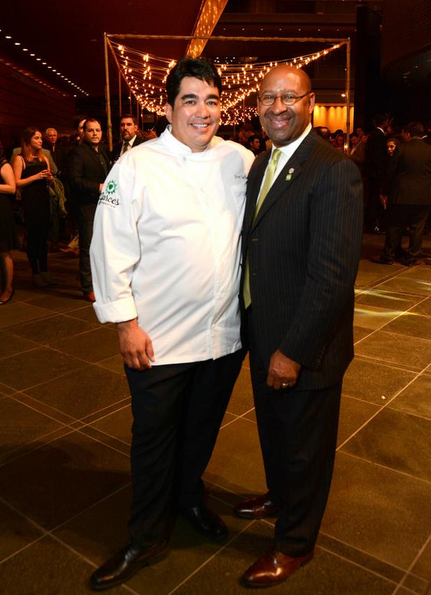The Mayor of the Gala, Chef Jose Garces, with the Mayor of Philadelphia, Mayor Michael Nutter