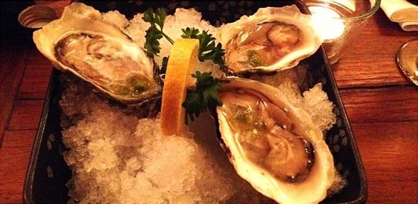 Yanako's Oysters with Ponzu Sauce & Wasabi Salsa