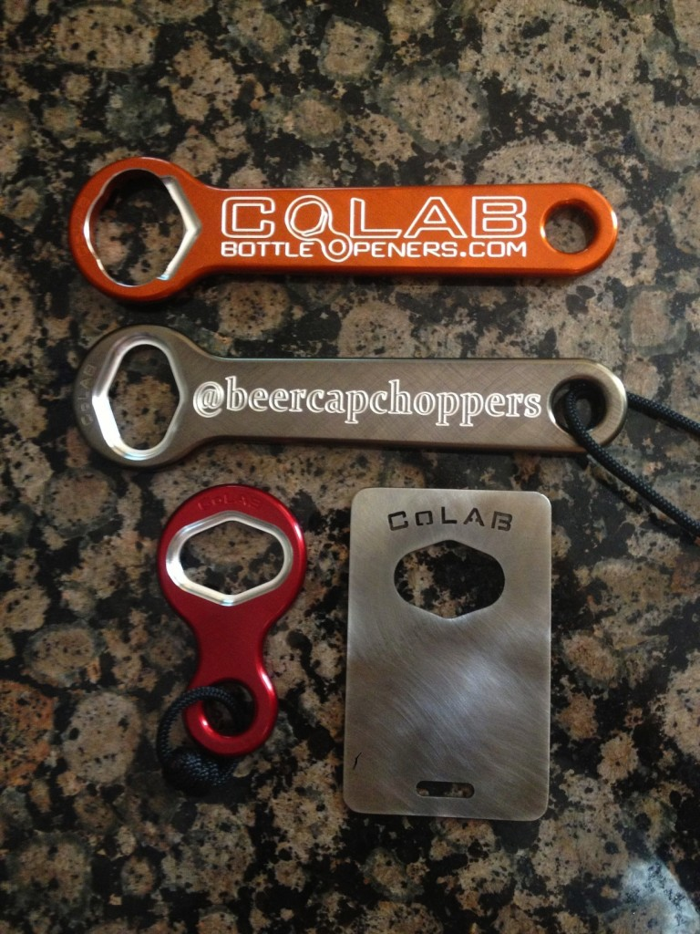 CoLAB Bottle Openers: Beer Cap Choppers' Nate's favorite bottle openers (photo courtesy of @BeerCapChoppers)