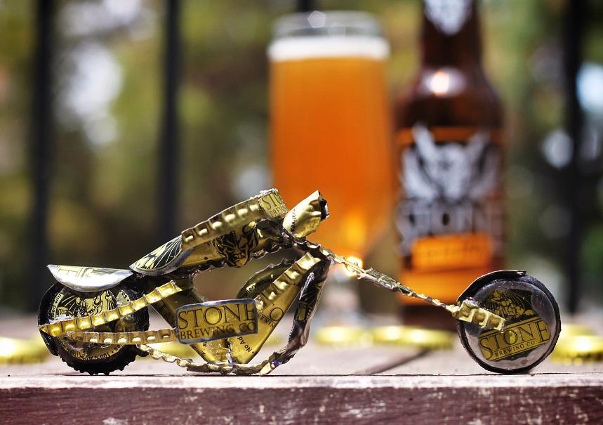 Beer Cap Chopper (Stone Arrogant Bastard) by Nate Custer