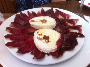 Cecina - cured, smoked beef in Santiago de Compostella... A flavour that's deep and smokey (photo courtesy of James Blick)
