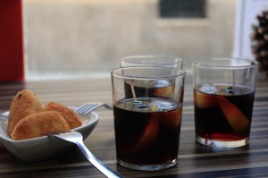 "Vermouth & chicken croquettes in Barcelona: ""Barcleona IS vermouth"" (photo courtesy of James Blick)"