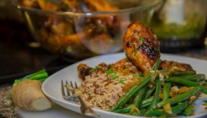 James Blick's Chicken, Rice & Salted Beans (photo by Alexander Lee)
