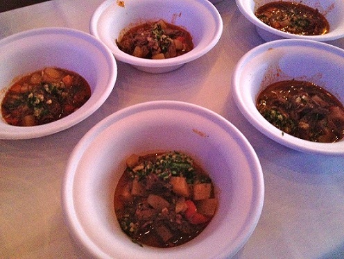 Brauhaus Schmitz's pepper pot soup (photo by Lee Porter)