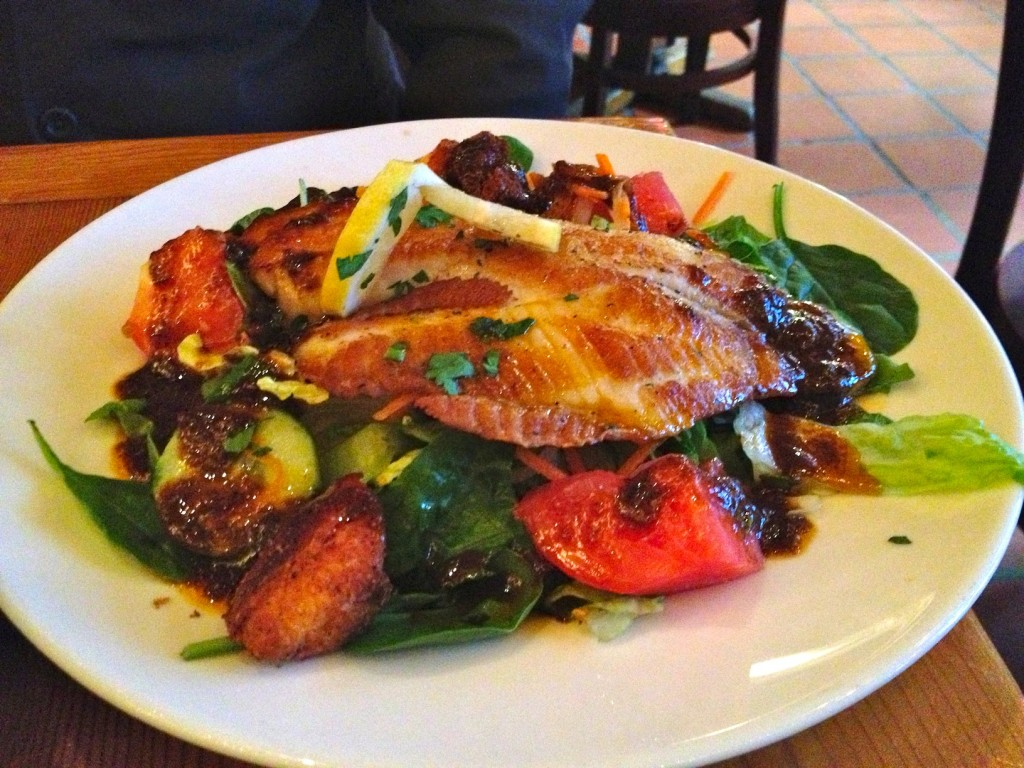 Graden Salad with Talapia (photo by Lee Porter)