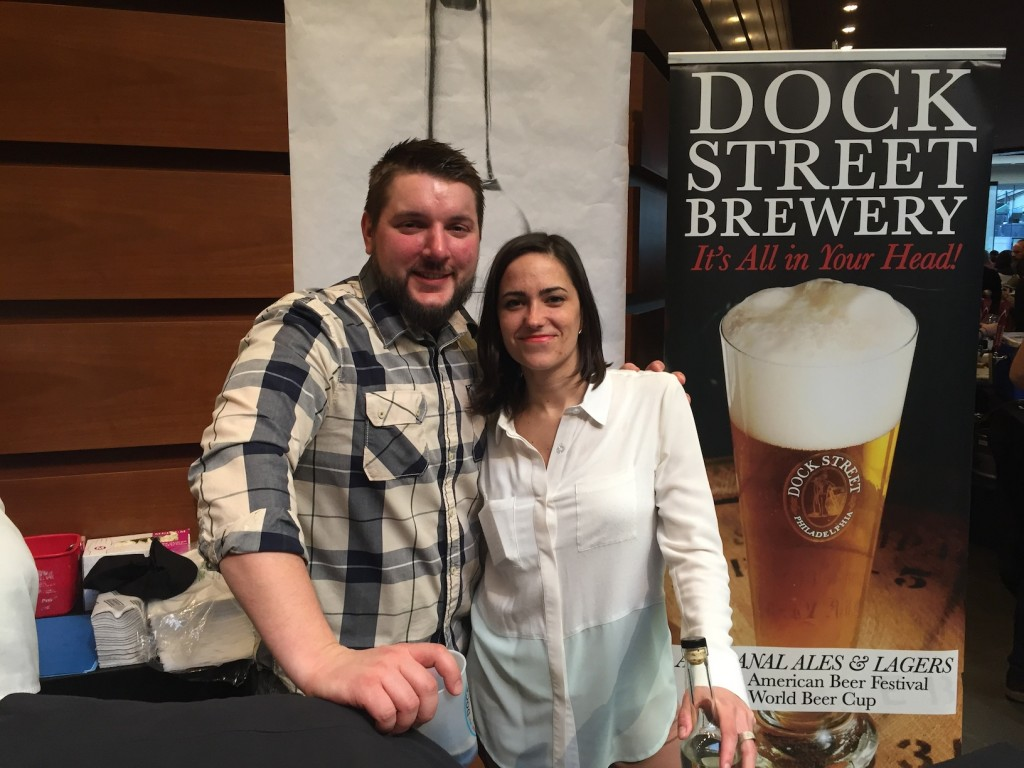 Dock Street's head brewer Vince & Marilyn (Brewer's Plate 2015) (photo by Lee Porter)