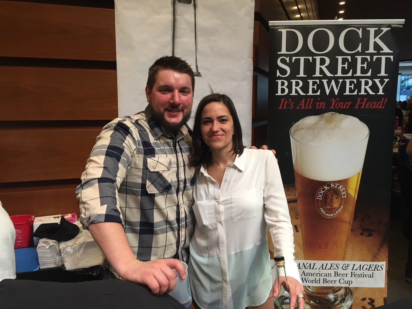 Dock Street's head brewer Vince & Marilyn