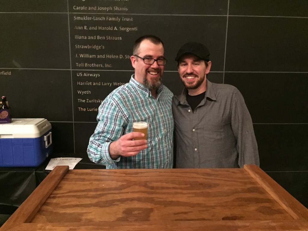Barren Hill Tavern's head brewer David Wood (left) (photo by Lee Porter)