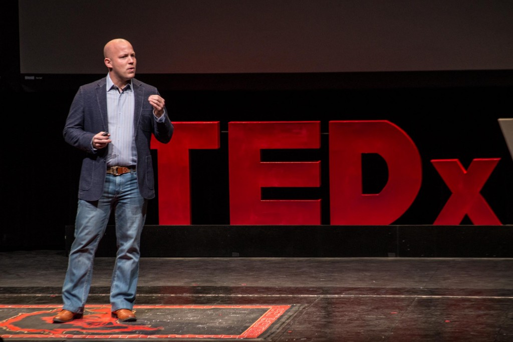 Chef Ryan at his recent Ted Talk in Vail