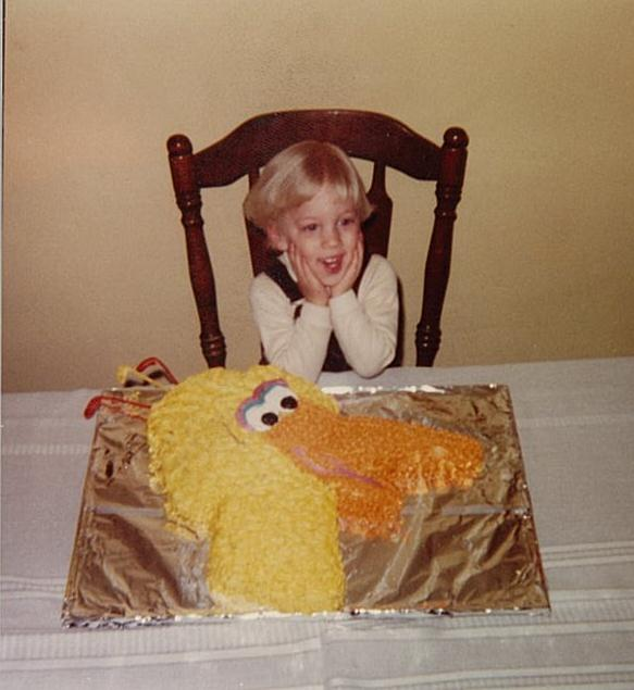 Chef Ryan & his Big Bird cake (photo courtesy of Centered Chef)