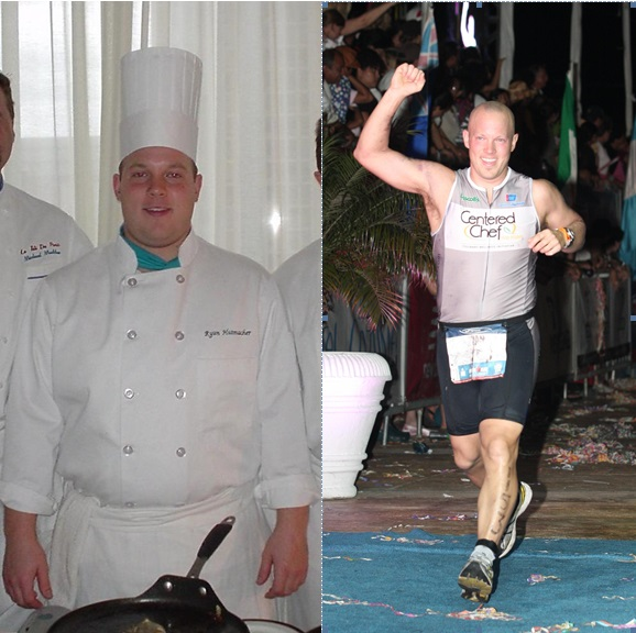 Chef Ryan: culinary student vs Ironman finisher (photo courtesy of Centered Chef)