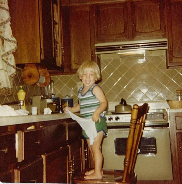 Chef Ryan as a child in the kitchen (photo courtesy of Centered Chef)