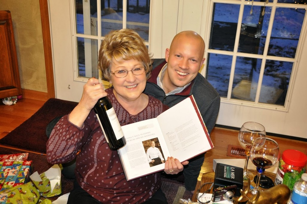 Chef Ryan with his mom at his first cookbook appearance (photo courtesy of Centered Chef)