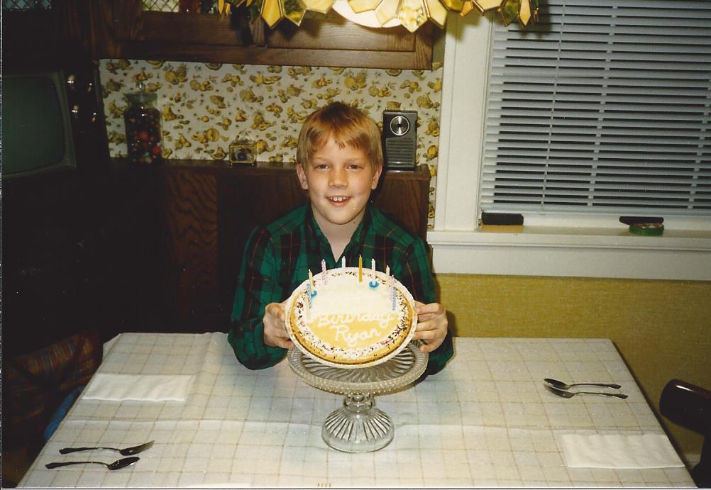 Chef Ryan with the first pie he ever made for his 9th birthday