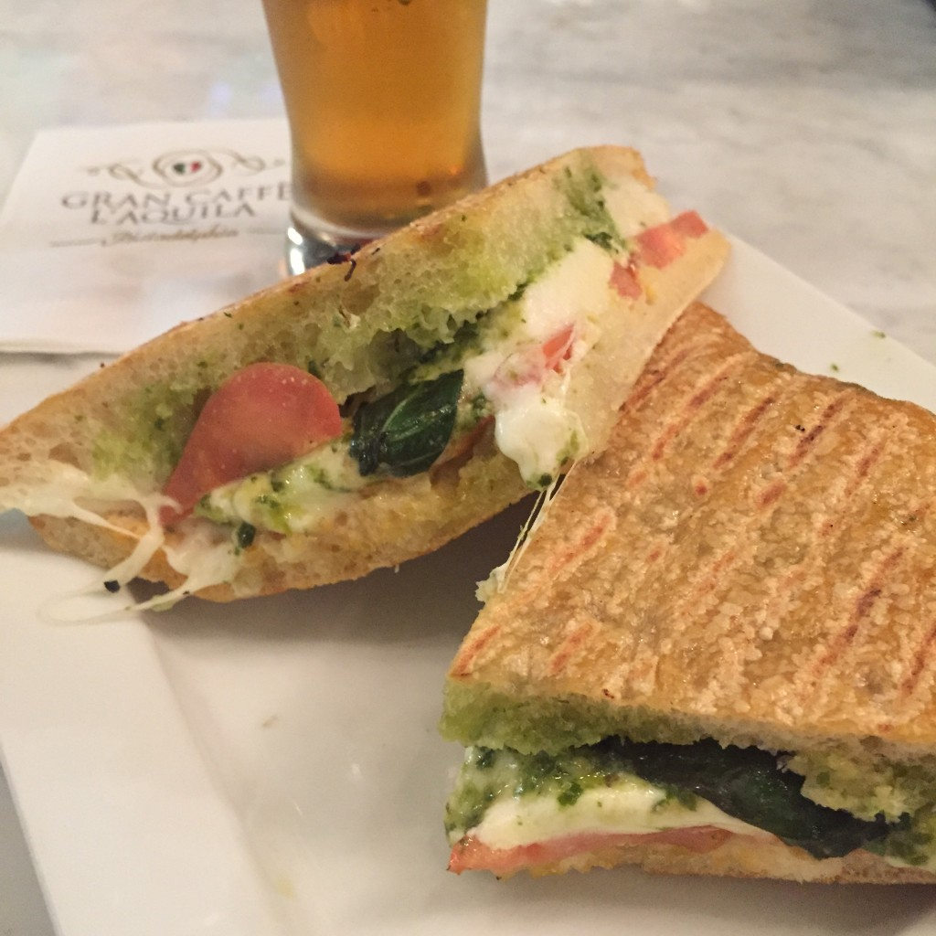 Capri Panini at Gran Caffe L'Aquila (photo by Lee Porter)