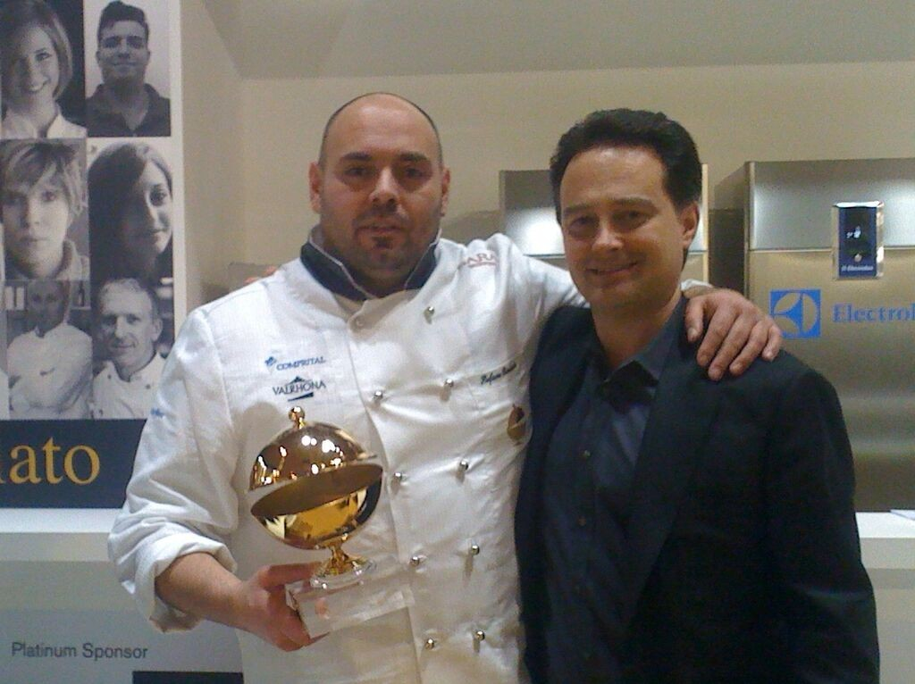 Stefano Biasini & Ricardo Longo, winning the Gelato Championship (photo courtesy of Gran Caffe L'Aquila)