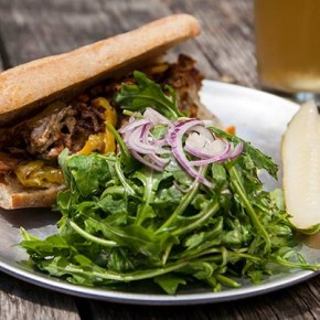 Seitan Cheesesteak at Barcade Philly (photo courtesy of Barcade via Michael