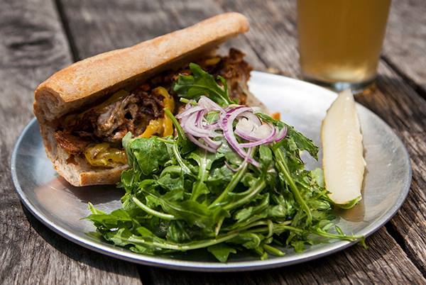 Seitan Cheesesteak at Barcade Philly (photo courtesy of Barcade via Michael's Savory Seitan)