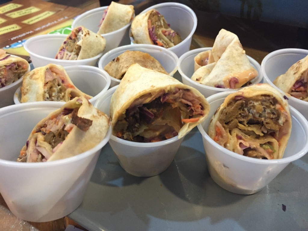 Michael's Savory Seitan's Vegan Reuben Wraps (photo by Lee Porter)