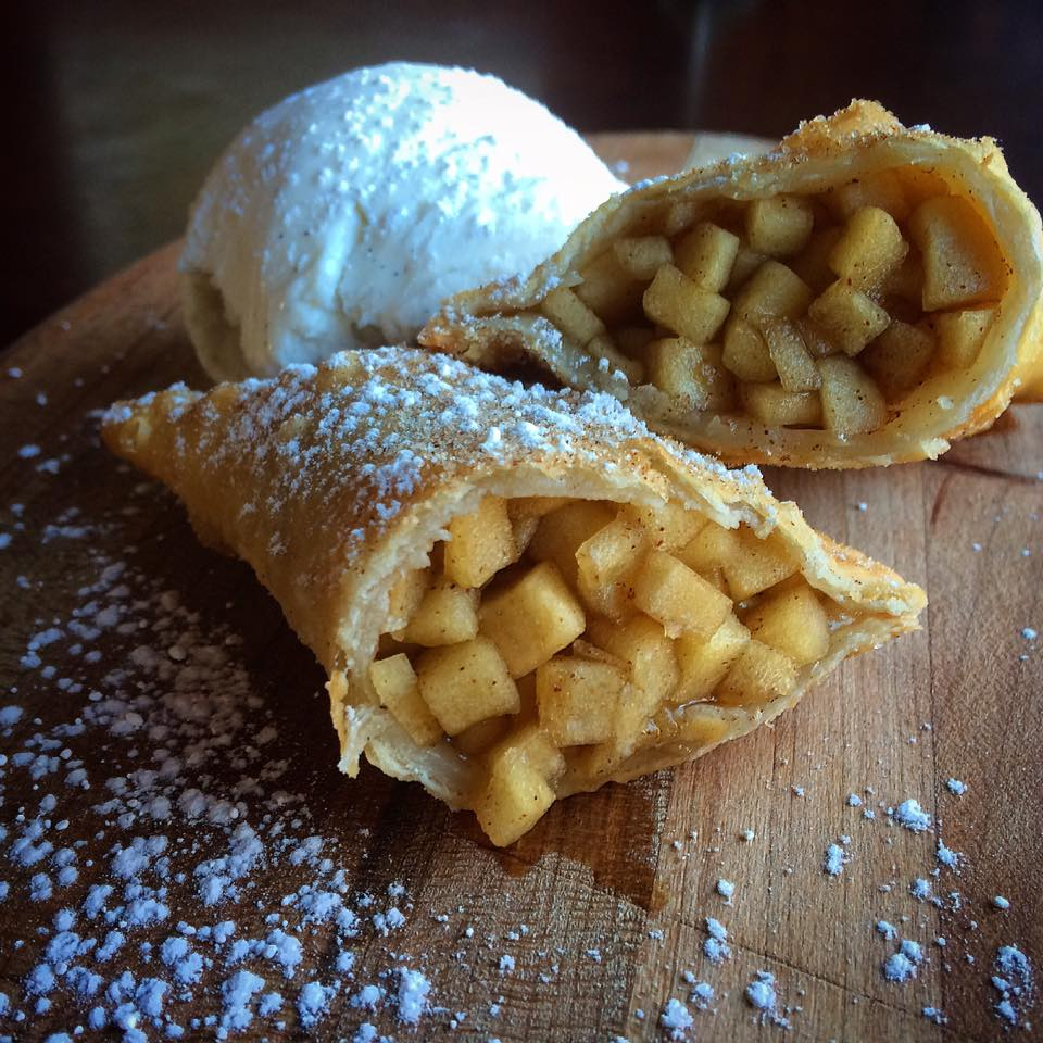 Caramel Apple Empanada with Vanilla Ice Cream at Taproom On 19th (photo courtesy of Taproom On 19th)