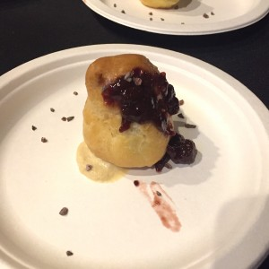 London Grill's foie gras in profiteroles at The Brewer's Plate 2017 (photo by Lee Porter)