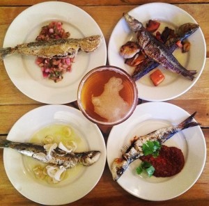 Sardines Four-Ways at American Sardine Bar (Instagram photo by @amisunin)